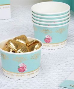 Eternal Rose Tea Party Treat Tubs