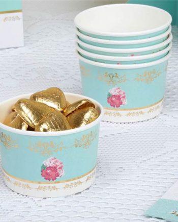 Eternal Rose Tea Party Treat Tubs
