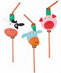 Farm Fun Party Drinking Straws