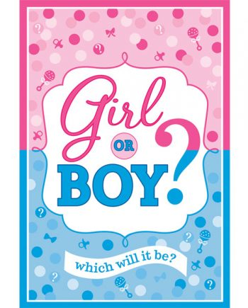 Gender Reveal Party Invitations and Envelopes