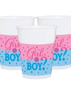 Gender Reveal Party Plastic Cups