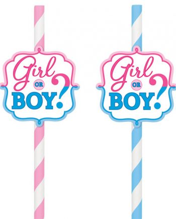 Gender Reveal Party Drinking Straws