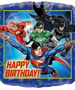 Justice League Happy Birthday Square Balloon