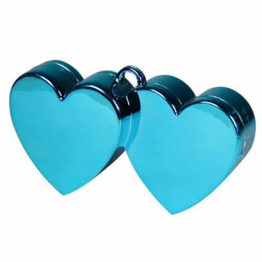 Light Blue Double Heart Balloon Weight