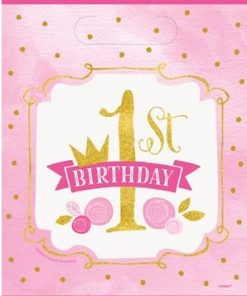 Pink & Gold1st Birthday Party Bags