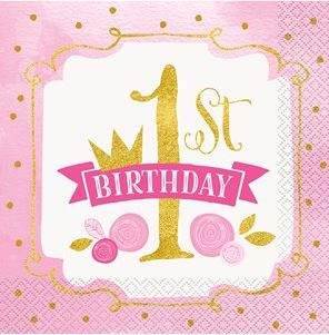1st Birthday Pink & Gold Party