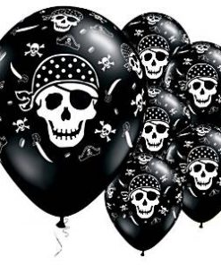 Pirate Skull & Crossbones Printed Latex Balloons