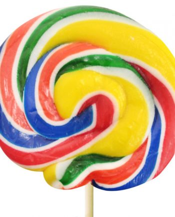 Rainbow Swirl Lollipops