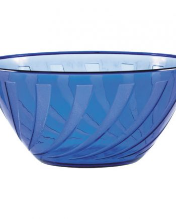 Royal Blue Swirl Plastic Bowl