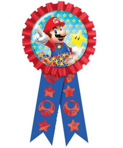 Super Mario Party Confetti Filled Award Ribbon