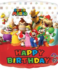 Super Mario Happy Birthday Square Balloon