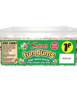 Swizzels Fun Gums Sour Apple Slices Tub