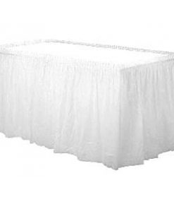White Party Plastic Tableskirt