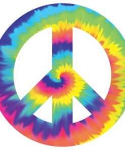 60's Feeling Groovy Peace Cutout