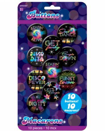 70s Disco Fever Button Badges