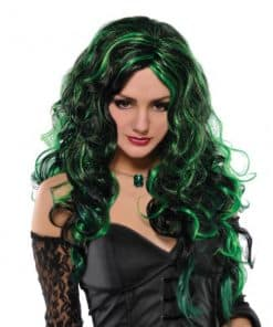 Halloween Be Wicked Black & Green Wig