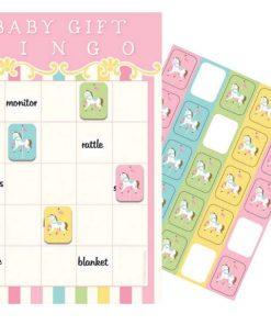 Carousel Baby Shower Party Bingo Game