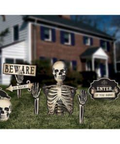 Halloween Boneyard Garden Sticks