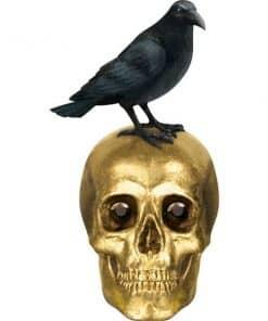 Halloween Boneyard Skull & Raven Table Decoration