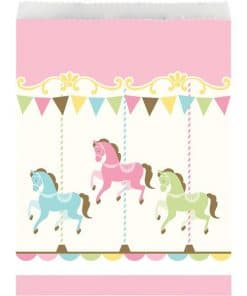 Carousel Baby Shower Party Paper Treat Bags
