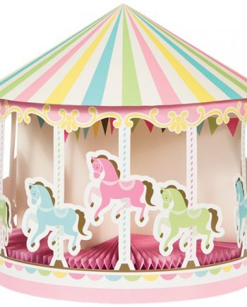 Carousel Baby Shower Party Honeycomb Centrepiece