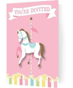 Carousel Baby Shower Party Invitations
