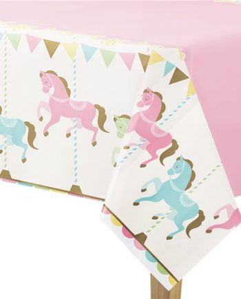 Carousel Party Plastic Tablecover