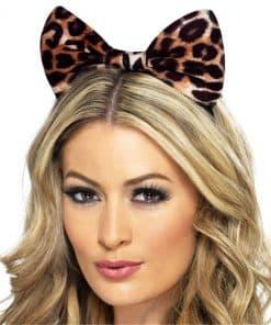 Cheetah Print Bow Ears