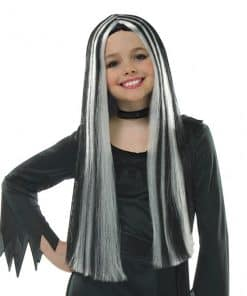 Halloween Child's Old Witch Black & Grey Wig