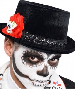Halloween Day of the Dead Top Hat