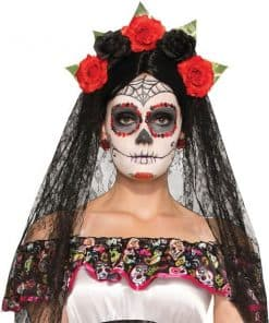 Halloween Day of the Dead Veil