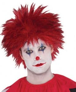 Halloween Evil Clown Red Wig
