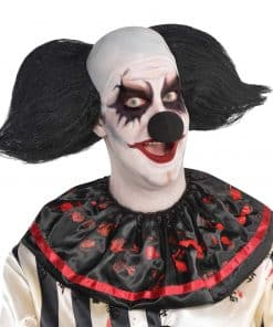 Halloween Freak Show Clown Black Wig