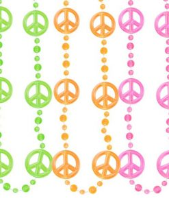 Funky Peace Sign Bead Necklaces