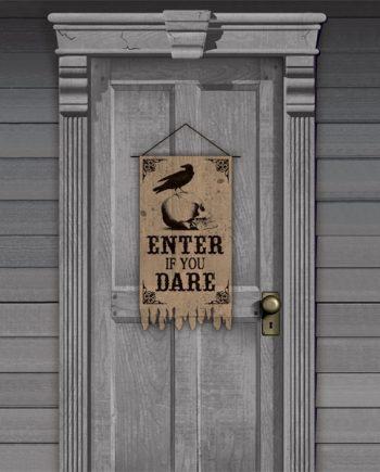 Halloween Boneyard Party Gauze Door Banner