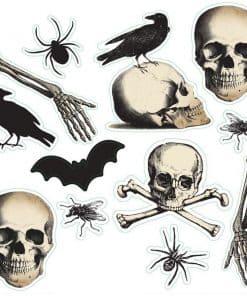 Halloween Boneyard Party Vinyl Window Decorations