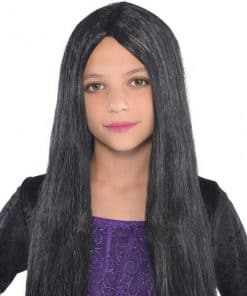 Halloween Child Black Witch Wig