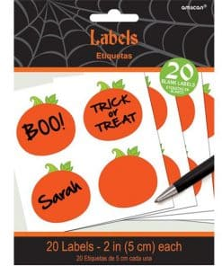 Halloween Pumpkin Party Bag Labels
