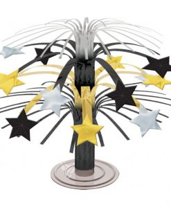 Hollywood Black, Silver & Gold Star Mini Cascade Table Centrepiece