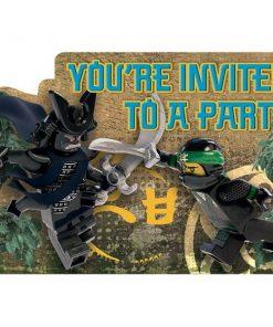 Lego Ninjago Party Invitations