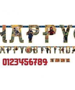 Lego Ninjago Party Letter Banner