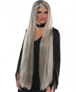 Halloween Long Witch Grey Wig