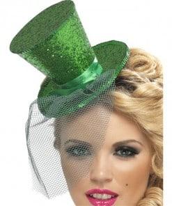 Mini Green Glitter Top Hat