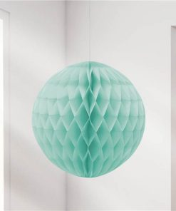 Mint Green Honeycomb Ball Decoration