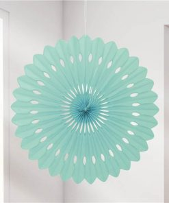 Mint Green Paper Fan Decoration