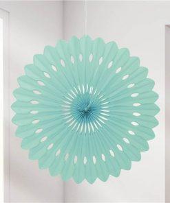 Mint Green Paper Fan Decoration