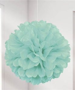 Mint Green Pom Pom Decoration