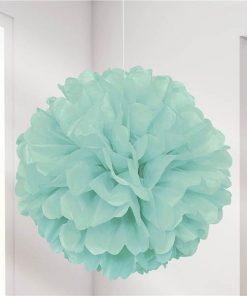 Mint Green Pom Pom Decoration