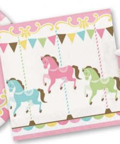 Carousel Baby Shower Party Napkins