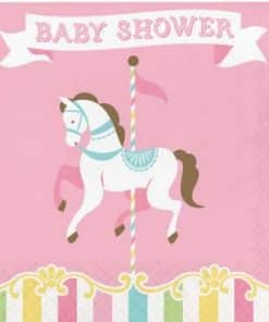 Carousel Baby Shower Party Baby Shower Napkins